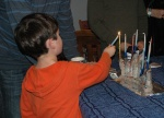 Caleb lighting menorah